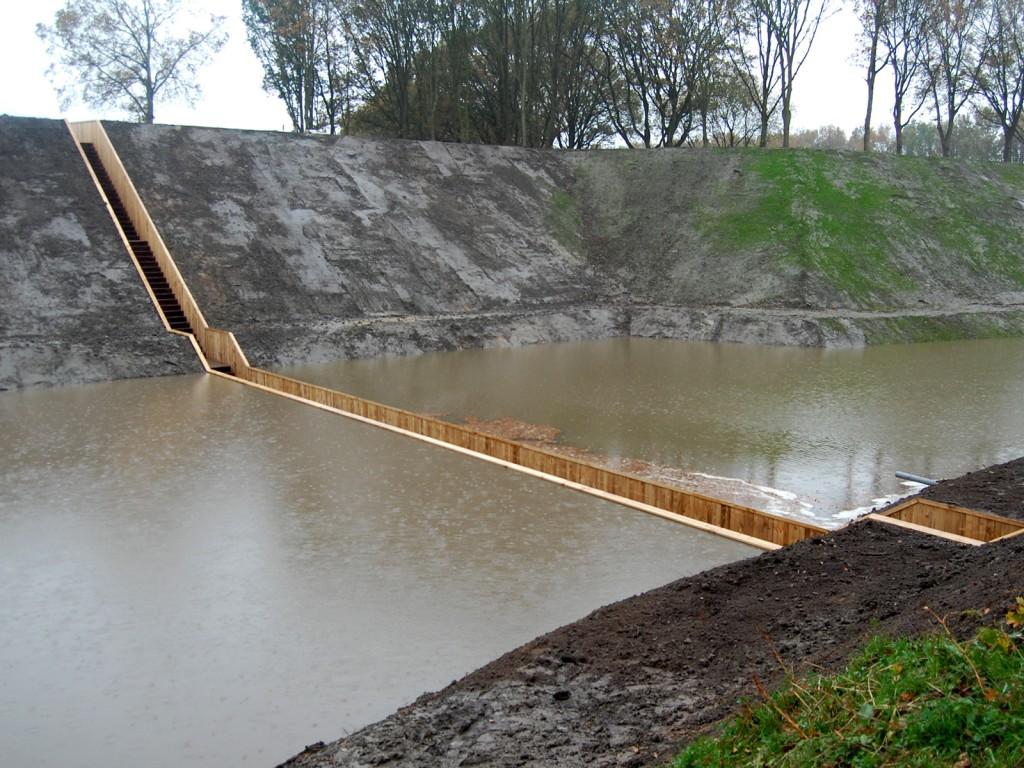 Pasarela sumergida en Brabante