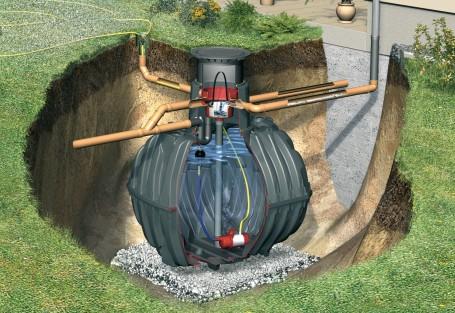 Si disponemos del espacio suficiente, los depósitos soterrados ofrecen mayor volumen de almacenamiento. Fuente: Graf.