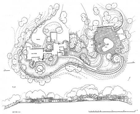 """Plano del jardín Donnell, """"El Novillero"""""""